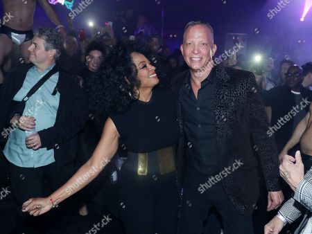 Diana Ross and David Cooley