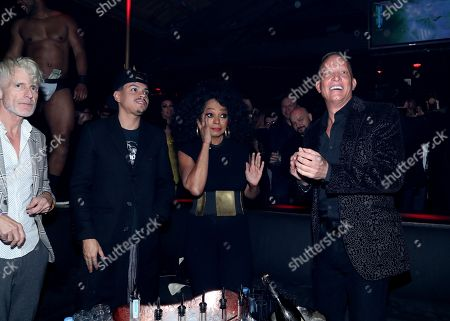Evan Ross, Diana Ross and David Cooley