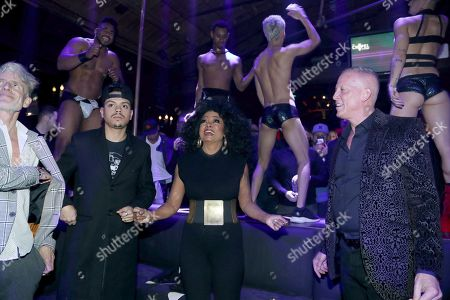 Stock Photo of Evan Ross, Diana Ross and David Cooley