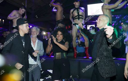 Editorial picture of Diana Ross promotes the dance club remix of 'Ain't No Mountain High Enough' at The World Famous Gay Bar The Abbey, Los Angeles, USA - 05 Jan 2018