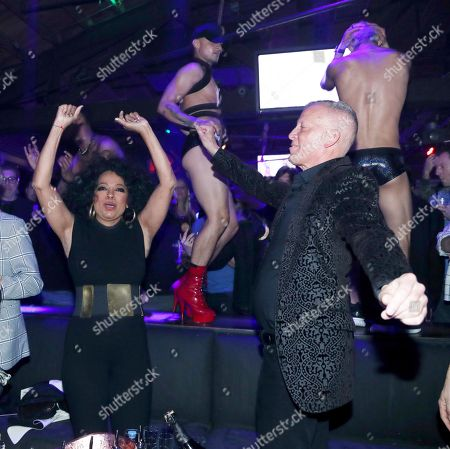 Editorial photo of Diana Ross promotes the dance club remix of 'Ain't No Mountain High Enough' at The World Famous Gay Bar The Abbey, Los Angeles, USA - 05 Jan 2018