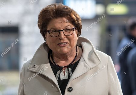 Barbara Stamm, vice-chair of the Christian Social Union (CSU) party and President of the Bavarian parliament, arrives for exploratory talks at the SPD headquarters Willy-Brandt-Haus in Berlin, Germany, 06 January 2018. The leaders of CDU, CSU and SPD parties explore the opportunities for a grand coalition, including daily meetings at the parties' headquarters through 11 January.