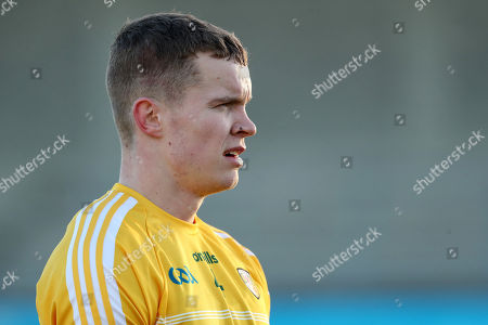 Dublin vs Antrim. Antrim's Stephen Rooney dejected after the game