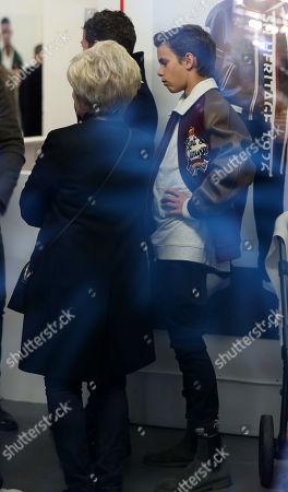 Stock Picture of Sandra Beckham and Romeo Beckham