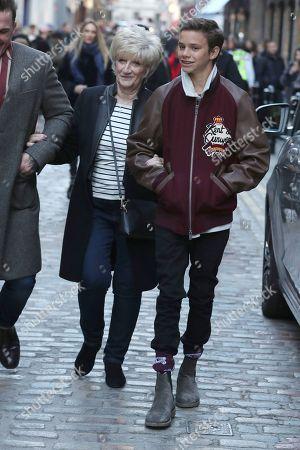 Sandra Beckham and Romeo Beckham