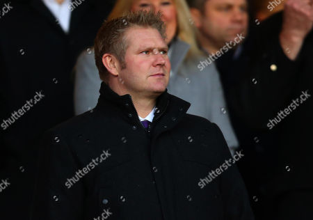 Former England and Yorkshire Cricketer Matthew Hoggard in the stands at The City Ground to watch Nottingham Forest v Arsenal in the FA Cup