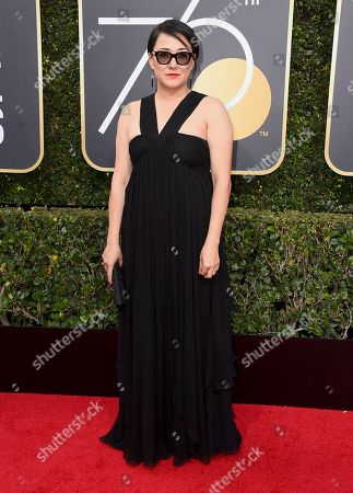 Ramsey Ann Naito arrives at the 75th annual Golden Globe Awards at the Beverly Hilton Hotel, in Beverly Hills, Calif