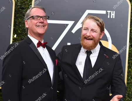 Sean Bobbitt, Hugh Welchman. Sean Bobbitt, left, and Hugh Welchman arrive at the 75th annual Golden Globe Awards at the Beverly Hilton Hotel, in Beverly Hills, Calif