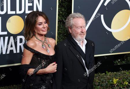 Stock Image of Giannina Facio and Ridley Scott