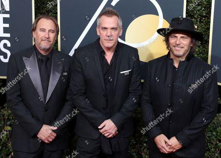(L-R) Nathan Ross, Jean-Marc Vallée and Gregg Fienberg arrive for the 75th annual Golden Globe Awards ceremony at the Beverly Hilton Hotel in Beverly Hills, California, USA, 07 January 2018.