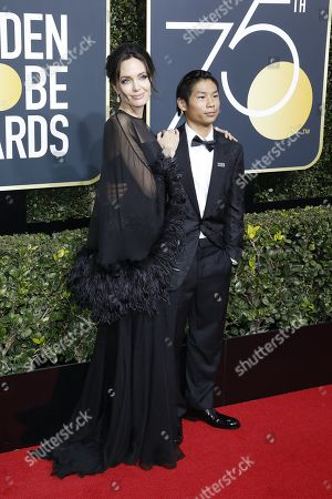 Editorial image of 75th Golden Globe Awards at the Beverly Hilton Hotel, Beverly Hills, USA - 07 Jan 2018