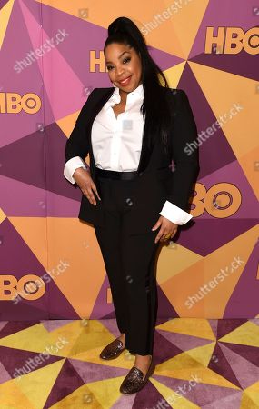 Kimberly Hebert Gregory arrives at the HBO Golden Globes afterparty at the Beverly Hilton Hotel, in Beverly Hills, Calif