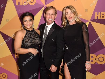 Laurie Hernandez, Nadia Comaneci, Bart Conner. Laurie Hernandez, from left, Bart Conner and Nadia Comaneci arrive at the HBO Golden Globes afterparty at the Beverly Hilton Hotel, in Beverly Hills, Calif