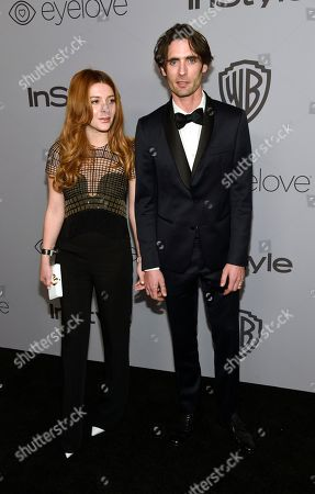 Tyson Ritter, Elena Satine. Elena Satine, left, and Tyson Ritter arrive at the InStyle and Warner Bros. Golden Globes afterparty at the Beverly Hilton Hotel, in Beverly Hills, Calif