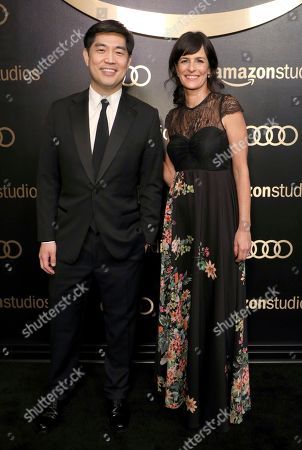 Albert Cheng, Sharon Tal Yguado. Albert Cheng, CEO of Amazon Studios, left, and Sharon Tal Yguado, head of scripted series, Amazon Studios, arrive at the Amazon Studios Golden Globes afterparty at the Beverly Hilton Hotel, in Beverly Hills, Calif