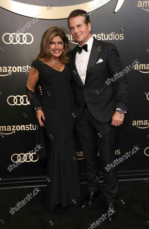 Carter Burwell, Christine Sciulli. Carter Burwell, right, and Christine Sciulli arrive at the Amazon Studios Golden Globes afterparty at the Beverly Hilton Hotel, in Beverly Hills, Calif