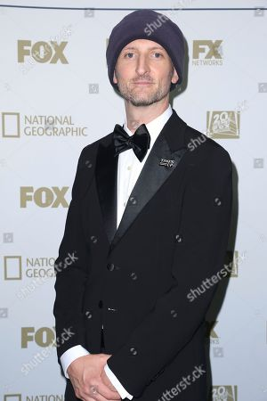 Michael Gracey arrives at the FOX Golden Globes afterparty at the Beverly Hilton Hotel, in Beverly Hills, Calif
