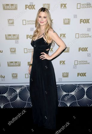Alexandra Breckenridge arrives at the FOX Golden Globes afterparty at the Beverly Hilton Hotel, in Beverly Hills, Calif
