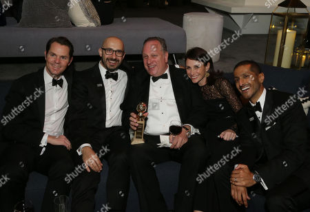 Jason Cassidy, President of Marketing for Focus Features, Peter Kujawski, Chairman of Focus Features, Douglas Urbanski, producer, Dani Weinstein, Executive Vice President of Publicity for Focus Features, and Abhijay Prakash, Chief Operating Officer of DreamWorks Animation,