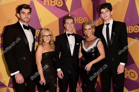 Conor Kennedy, Rachel Harris, Bobby Nixon, Cheryl Hines, Aiden Kennedy. Conor Kennedy, from left, Rachel Harris, Bobby Nixon, Cheryl Hines and Aiden Kennedy arrive at the HBO Golden Globes afterparty at the Beverly Hilton Hotel, in Beverly Hills, Calif