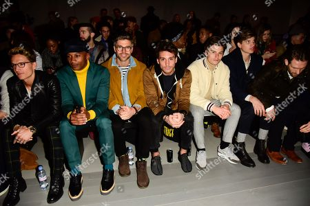 Editorial image of Christopher Raeburn show, Front Row, London Fashion Week Men's, UK - 07 Jan 2018