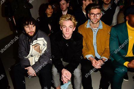 Editorial image of Alex Mullins show, Front Row, Fall Winter 2018, London Fashion Week Men's, UK - 07 Jan 2018