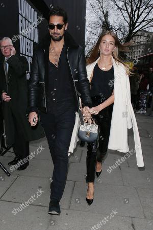Hugo Taylor and Millie Mackintosh at 180 Strand, Men's Fashion Week