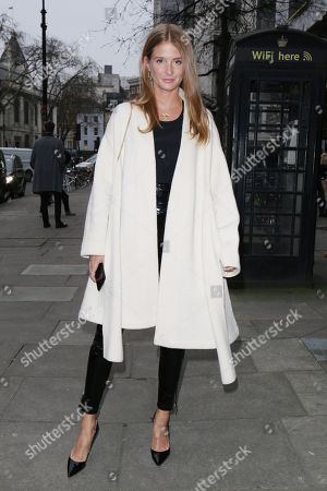 Editorial photo of Millie Macintosh and Hugo Taylor out and about, London, UK - 08 Jan 2018