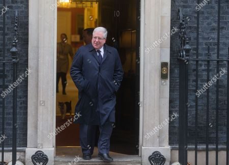 Former Conservative Party Chairman, Patrick McLoughlin, leaves number 10 Downing street and has left the Cabinet