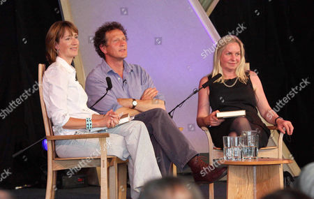 Stock Picture of Francine Stock, Monty Don and wife Sarah Don