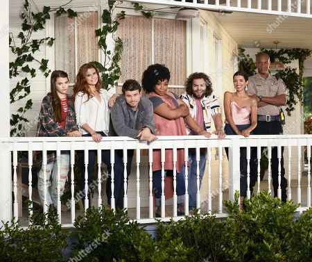 Stock Image of Chloe East, JoAnna Garcia Swisher, Jason Ritter, Kimberly Hebert Gregory, Dustin Ybarra, India de Beaufort J. August Richards,
