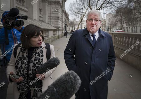 Sir Patrick McLoughlin leaves Downing Street after being replaced as Tory Party chairman