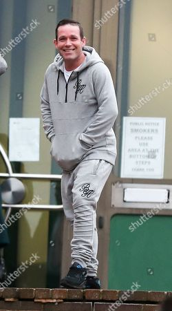 Stock Image of Rob Prudham, ex of so called 'Queen Of Benefits' Cheryl Prudham, arrives at Maidstone Crown Court for sentencing for theft from hospital parking meters and fraud.