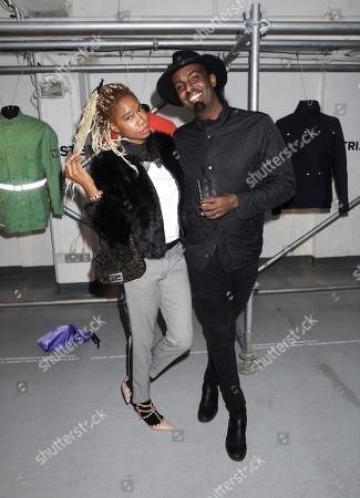 Stock Image of Tolula Adeyemi and Smiley