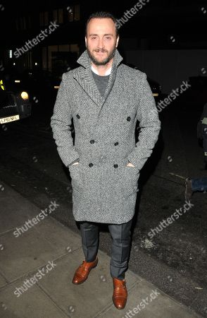 Editorial picture of GQ Dinner, Fall Winter 2018, London Fashion Week Men's, UK - 08 Jan 2018