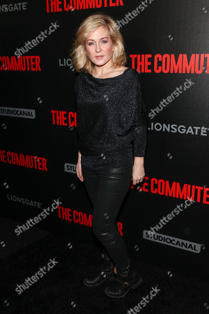 """Amy Carlson attends the premiere of """"The Commuter"""" at AMC Loews Lincoln Square, in New York"""