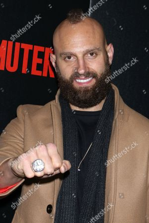Mark Herzlich shows off his NY Giants Super Bowl ring