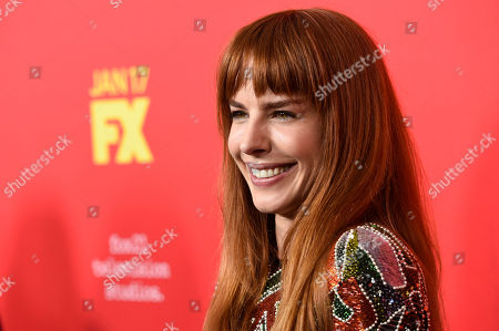 """Eglantina Zingg poses at a special screening of the television series """"The Assassination of Gianni Versace: American Crime Story"""" at the ArcLight Hollywood, in Los Angeles"""