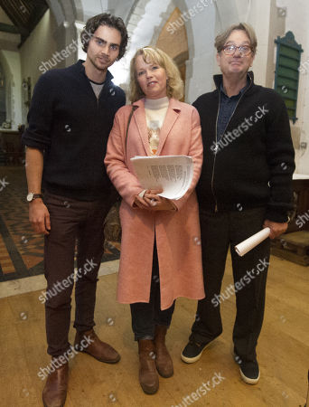 Tom York Sara Crowe And Simon Sepherd After Reading To The Congregation Of Godalming Church They Are Making A Special Appearance In Godalming Church For A Carol Service To Support Mane Chance Sanctuary.