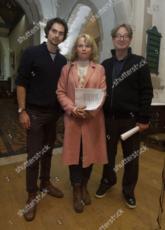 Stock Photo of Tom York Sara Crowe And Simon Sepherd After Reading To The Congregation Of Godalming Church They Are Making A Special Appearance In Godalming Church For A Carol Service To Support Mane Chance Sanctuary.