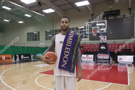 Editorial image of Joshua Ward-hibbert British Tennis Player Now Turned Professional Basketball Player For The Leicester Riders.