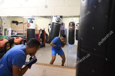 Harley Benn Son Of Boxer Nigel Benn Training In The Five Star Gym In Romford.