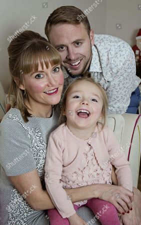 Femail - Lucy And Adam Mason And Their Daughter Daisy Who Has Cerebral Palsy And Is One Of The Stars Of The Channel 4 Show ' Secret Lives Of 5 Year Olds'.