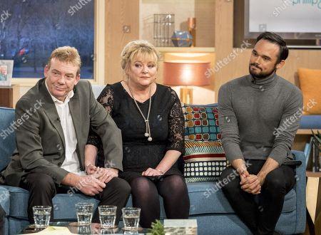 Tony Robinson and Paula Robinson with Gareth Gates