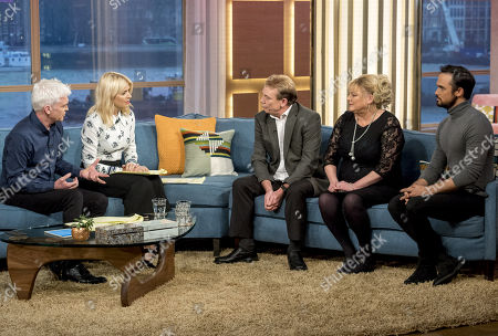Phillip Schofield and Holly Willoughby with Tony Robinson and Paula Robinson with Gareth Gates