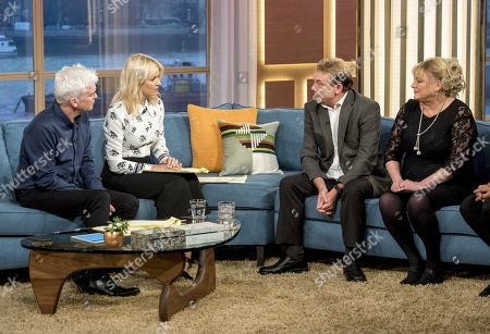 Phillip Schofield and Holly Willoughby with Tony Robinson and Paula Robinson