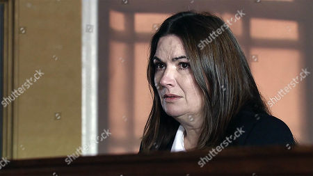 Ep 9357 Friday 19th January 2018 - 1st Ep Anna Windass, as played by Debbie Rush, trial begins and Phelan, as played by Connor McIntyre, is called as the first witness. Lying through his teeth Phelan paints Anna to be the villain, making out she pushed Seb off his ladder.
