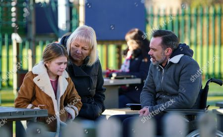 Ep 9361 Wednesday 24th January 2018 - 1st Ep Eileen Grimshaw, as played by Sue Cleaver, drives Billy Mayhew, as played by Daniel Brocklebank, to meet Todd and Summer, as played by Matilda Freeman, but when they arrive they're shocked to see Summer alone revealing that Todd's not coming after the police caught up with them but she got away. Billy's horrified.