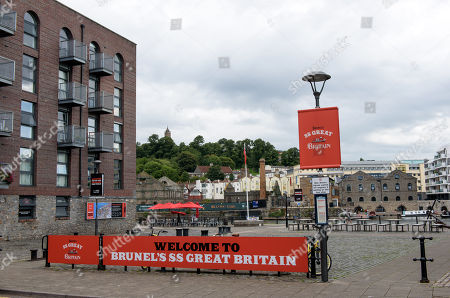 Stock Picture of GVs of Gas Ferry Road and Steamship House near the SS Great Britain tourist attraction which was evacuated following a bomb alert last August. Today, 09/01/2018, Bristol man James Francis has admitted trying to blow up a block of flats near SS Great Britain in Bristol docks