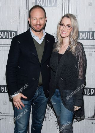 """Sam Hoffman, Ingrid Michaelson. Sam Hoffman and Ingrid Michaelson participate in the BUILD Speaker Series to discuss the new film """"Humor Me"""" at AOL Studios, in New York"""